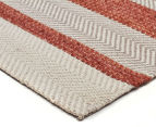Handwoven Cotton & Wool Flatweave 225x155cm Rug - Copper 2