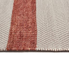 Handwoven Cotton & Wool Flatweave 225x155cm Rug - Copper 3