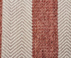 Handwoven Cotton & Wool Flatweave 225x155cm Rug - Copper 4