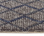 Handwoven Viscose & Wool 280x190cm Rug - Blue 3