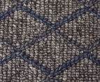 Handwoven Viscose & Wool 280x190cm Rug - Blue 4