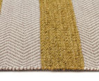 Handwoven Cotton & Wool Flatweave 225x155cm Rug - Green 3