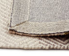 Handwoven Cotton & Wool Flatweave 320x230cm Rug - Green 5