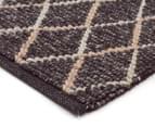 Handwoven Viscose & Wool 225x155cm Rug - Charcoal 2