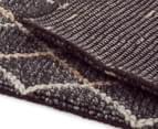 Handwoven Viscose & Wool 225x155cm Rug - Charcoal 5