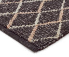 Handwoven Viscose & Wool 280x190cm Rug - Charcoal 2