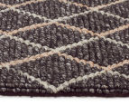 Handwoven Viscose & Wool 280x190cm Rug - Charcoal 3
