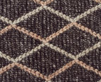 Handwoven Viscose & Wool 280x190cm Rug - Charcoal 4