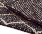 Handwoven Viscose & Wool 280x190cm Rug - Charcoal 5