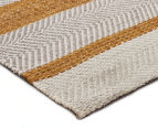 Handwoven Cotton & Wool Flatweave 225x155cm Rug - Yellow 2