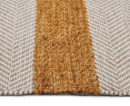 Handwoven Cotton & Wool Flatweave 225x155cm Rug - Yellow 3