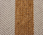 Handwoven Cotton & Wool Flatweave 225x155cm Rug - Yellow 4