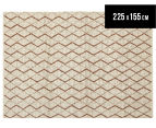 Handwoven Viscose & Wool 225x155cm Rug - Copper 1