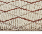 Handwoven Viscose & Wool 225x155cm Rug - Copper 3