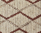 Handwoven Viscose & Wool 225x155cm Rug - Copper 4