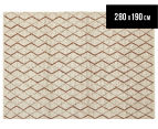 Handwoven Viscose & Wool 280x190cm Rug - Copper 1