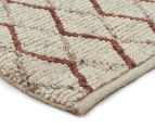 Handwoven Viscose & Wool 280x190cm Rug - Copper 2