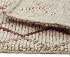 Handwoven Viscose & Wool 280x190cm Rug - Copper 5