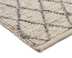 Handwoven Viscose & Wool 280x190cm Rug - Ivory 2