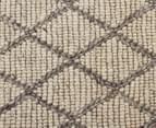 Handwoven Viscose & Wool 280x190cm Rug - Ivory 4