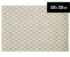 Handwoven Viscose & Wool 320x230cm Rug - Ivory 1