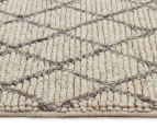 Handwoven Viscose & Wool 320x230cm Rug - Ivory 3