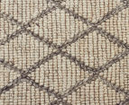 Handwoven Viscose & Wool 320x230cm Rug - Ivory 4