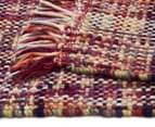 Handwoven Pure Wool Flatweave 280x190cm Rug - Multi 5