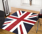 Funky Union Jack 230 x 160cm Rug - Blue/Red/White 2