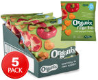 5 x Organix Finger Foods Red Pepper Hearts 20g 1