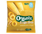 5 x Organix Finger Foods Sweetcorn Rings 20g 2