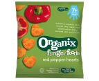 5 x Organix Finger Foods Red Pepper Hearts 20g 2