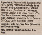 12 x Balance 100% Natural High Protein Bar Almond, Coconut & Cacao 60g 4