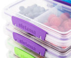 Sistema 350mL Small Split To Go Container 9-Pack - Blue/Pink/Green/Purple 2