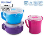 Sistema To Go Microwave Container 3-Pack - Randomly Selected 1
