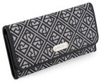 Relic Logo Jacquard Checkbook Wallet - Grey/Black 2