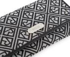 Relic Logo Jacquard Checkbook Wallet - Grey/Black 4