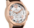 Marc Coblen 45mm MC45R4 Chronograph Watch + 3 Assorted Straps & Bezels - White/Rose Gold 2