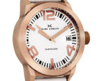 Marc Coblen 42mm MC42R3 Watch + 3 Assorted Straps & Bezels - White/Rose Gold 2