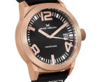 Marc Coblen 42mm MC42R1 Watch + 3 Assorted Straps & Bezels - Black/Rose Gold 2