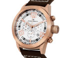 Marc Coblen 45mm MC45R4 Chronograph Watch + 3 Assorted Straps & Bezels - White/Rose Gold 3