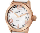 Marc Coblen 42mm MC42R3 Watch + 3 Assorted Straps & Bezels - White/Rose Gold 3