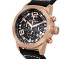 Marc Coblen 42mm MC42R2 Chronograph Watch + 3 x Assorted Straps & Bezels - Black/Rose Gold 3