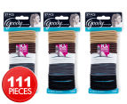 3 x Goody Ouchless No Metal Elastics 37pk - Java Bean 1