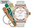 Marc Coblen 42mm MC42R3 Watch + 3 Assorted Straps & Bezels - White/Rose Gold 1