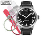 Marc Coblen 45mm MC45S1 Watch + 3 Assorted Straps & Bezels - Black/Steel 1