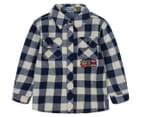 UC Junior Check Shirt - Navy 1