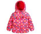 Funky Babe Kids' Polka Dot Puffer Jacket - Pink 1