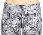 Calvin Klein Performance Women's Amalgamate Print Crop Tight - Neutral 3