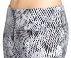 Calvin Klein Performance Women's Amalgamate Print Crop Tight - Neutral 5